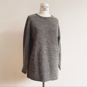 Vintage 90s Textured Knit Oversized Tunic Top